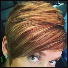 Red hair with blonde highlights by Robin Austin.