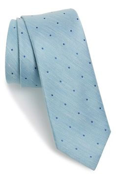 The Tie Bar Dot Silk & Linen Tie available at #Nordstrom