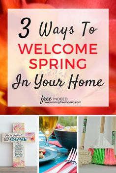 Includes FREE Scripture Printable | Spring Cleaning Ideas | How to Prepare for Spring | How to Spring Clean | Family Fun for Spring | Preparing for Easter | Hospitality Ideas | Spring Decor Ideas | Spring is such a sweet time of year, because it brings to mind the new life God has given us in Christ! Celebrate this season with your family 3 ways.