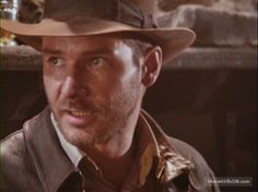 Raiders of the Lost Ark -- Behind the scenes photo of Harrison Ford