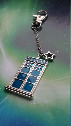 Doctor Who Tardis keyring, keychain or bag accessory, made by Emma at Dorset Creations ETSY