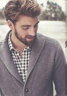 Aw yeah, the shawl collared sweater.