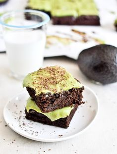 Avacado brownies....sounds so weird I have to try them!  Love avacado, love chocolate, love brownies...we'll see if you can put them together and get something wonderful....