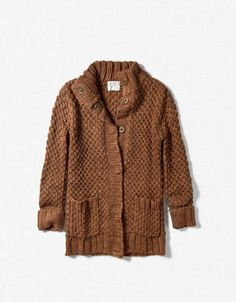 On the to-knit-list: Learn how to knit a comfy cardi like this for my niece!