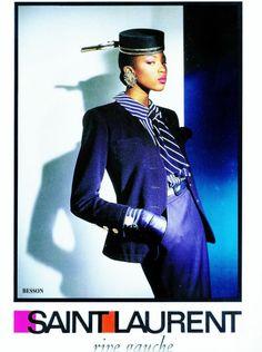 1988 - Yves Saint Laurent Rive Gauche adv - Naomi Campbell  by Gian Paolo Barbieri