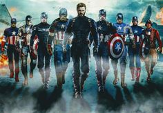 Captain America throughout the MCU