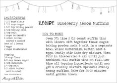 Always With Butter: Blueberry Lemon Muffins