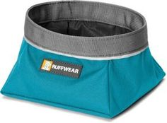 Ruffwear Quencher Collapsible Dog Bowl Pacific Blue M