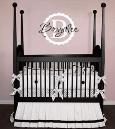Vinyl monogram for baby.  Great use for your Silhouette and vinyl!