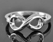 infinity ring, sterling silver ring, love ring, infinty knot ring, bridesmaid gift, bridesmaid jewelry, symbol, friendship. $30.00, via Etsy.