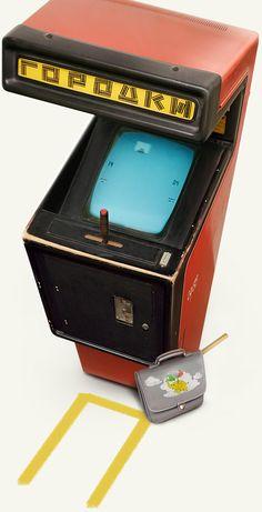 Los ingenieros rusos aunaron tradición y vanguardia con este arcade: Gorodki. Va de lanzar un palo contra palitos en una suerte de diavólica mezcla entre bolos y petanca. Tela!
