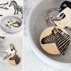 Foto auf Holz - Schlüsselanhänger
