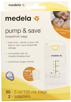 Can ALWAYS use extra of these babies!!! Medela Pump and Save Breast Milk Bags, 50 Count