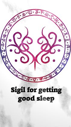 """wolfofantimonyoccultism: """" Sigil for getting good sleep Sigil requests are closed. For more of my sigils go..."""