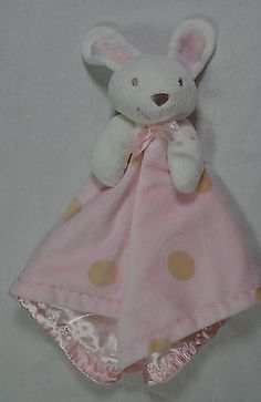 M Amp S Bunny Pink White Blanket Comforter Soother Lovey Baby