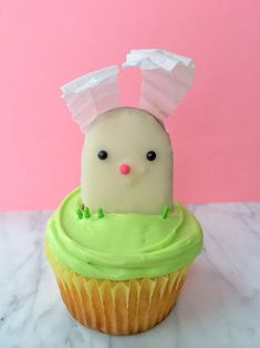 Easy Easter Bunny Cupcakes Recipe