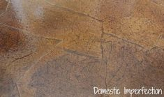 paper bag floors, diy, flooring, how to, A close up of the finished floor it almost looks like old leather