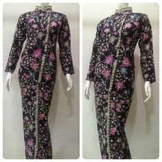 Image result for motif batik seragam kantor Batik Dress, Kimono Dress, Batik Fashion, Kebaya, Traditional Outfits, Harem Pants, Duster Coat, Muslim, Costumes