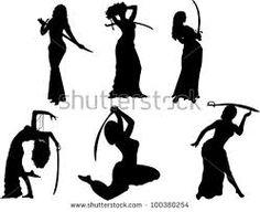 Resultado de imagem para bailarina arabe silueta