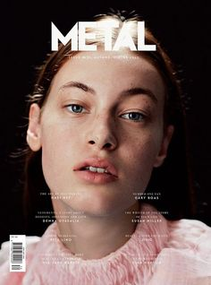 """metalmagazine: """" Hello friends, this season we launch new logo and new design! Here you have METAL 34 cover 1 by Raffaele Cariou and styled by Morgane Nicolas - Starring Julia Leineweber at Oui. Editorial Layout, Editorial Design, Editorial Fashion, Magazine Wall, Metal Magazine, Mode Inspiration, Graphic Design Inspiration, Book Cover Design, Book Design"""