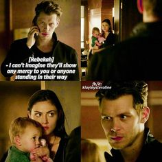 The Originals: Klaus, Hayley, and Hope | Aww the look on his face anytime he's around Hope.