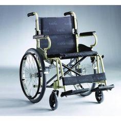 Silla de Ruedas Aluminio de 500 mm. Silla de tránsito  con ruedas autopropulsable fabricada en aluminio, de reducidas dimesiones ideal para espacios reducidos y desplazamientos.