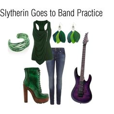 Slytherin Goes to Band Practice, created by nearlysamantha on Polyvore