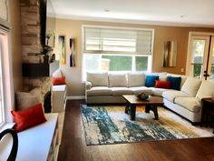 Family room remodel. Adding tones of character with color