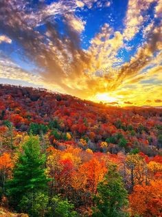 Fall Sunset in Highlands, North Carolina makes a great travel combination.
