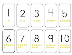 This is a set of free number cards 1 - 10.