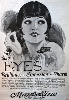 women's makeup in the Roaring 20s   Makeup throughout the decades
