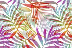 Tropical pattern. Jungle palm leaves by mystel on @creativemarket