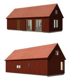 Dalåsen 46 Prefab Cottages, Factory Design, Exterior House Colors, Living Spaces, Living Area, Tiny House, House Plans, House Ideas, Barn