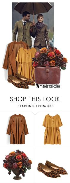 """Sheinside V/4"" by belle-papillon ❤ liked on Polyvore featuring Sruli Recht, Steven Alan and Allstate Floral"