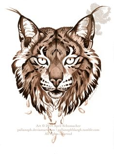 Iberian Lynx: Drifting by pallanoph on DeviantArt - You are in the right place about Mammals kinderg Iberian Lynx, Eurasian Lynx, Lynx Tattoo, Mandala Art, Lynx Kitten, Lynx Lynx, Head Tattoos, Deviantart, Animal Tattoos