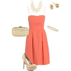 Cute, cute cute!  Senior Spokesmodel Sofia pinned this.  I love this romantic style and light coral dress