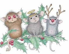 Monica, Maxwell and Muzzy from House-Mouse Designs® featured on the The Daily Squeek® for December Christmas Pictures, Christmas Art, Christmas Paintings, Christmas Balls, Christmas Decorations, House Mouse Stamps, Mouse Pictures, Cute Mouse, Tatty Teddy