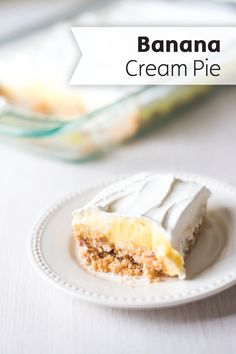 This Easy Triple Layer Banana Cream Pie will have your family be going bananas for its classic dessert flavor. Check out the full recipe to bring it to your next summer potluck.