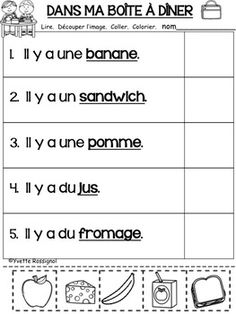 French Language Lessons, French Language Learning, French Lessons, Spanish Lessons, Kindergarten Workbooks, Kindergarten Lessons, French Teaching Resources, Teaching Spanish, Teaching Reading