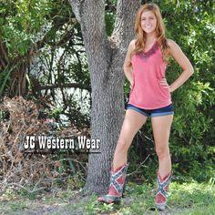 Women's Corral Rebel Flag Western Boot.