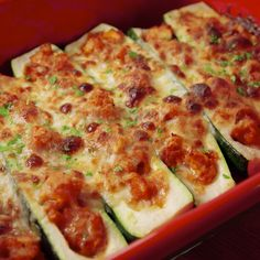 Parm Stuffed Zucchini This is cheesy zucchini at its finest.This is cheesy zucchini at its finest. Keto Recipes, Cooking Recipes, Healthy Recipes, Gluten Free Recipes With Zucchini, Stuffed Zucchini Recipes, Stuffed Zucchini Boats, Chicken Zucchini Boats, Cheesy Zucchini Bake, Zucchini Parmesan