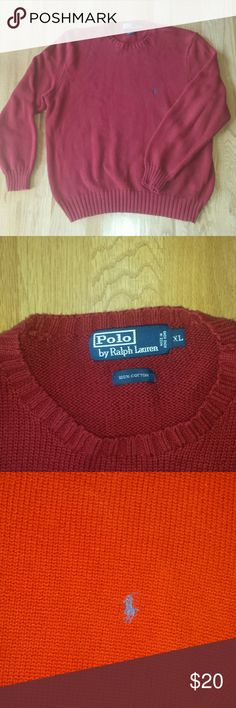 Ralph Lauren Crewneck Sweater Red crew neck sweater by Ralph Lauren. In good condition. Polo by Ralph Lauren Sweaters Crewneck