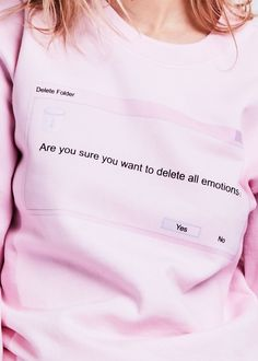 Delete All Emotions Crewneck   NYLON SHOP
