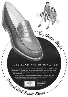 Official Girl Scout shoes, 1947