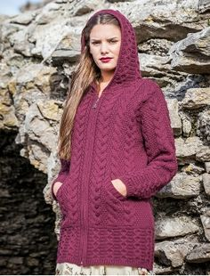 Hooded Coatigan with Celtic Knot Zipper Pull