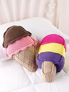 Crochet - Sweet Treat Pillows. Not a free pattern but cute!