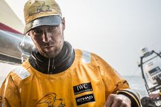 February 8, 2015. Leg 4 to Auckland onboard Abu Dhabi Ocean Racing. Day 0. Daryl Wislang post shower at the start of the beat towards the Philippines.   - Matt Knighton / Abu Dhabi Ocean Racing / Volvo Ocean Race