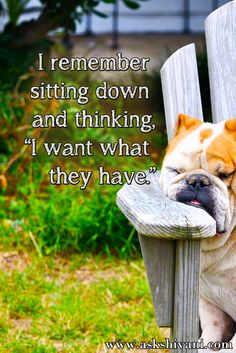 I remember sitting down and thinking, 'I want what they have'. #quotefortoday #getinspired #qotd