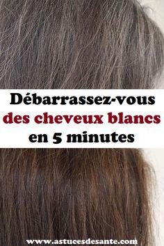 Débarrassez-vous des cheveux blancs en 5 minutes #cheveuxblancs #astucesbeauté #beauté #beautéetcoiffure #remede