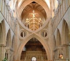 Inverted Arch, Wells Cathedral    http://en.wikipedia.org/wiki/Wells_Cathedral